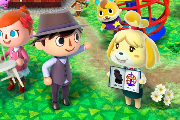 animal crossing isabelle holding guidebook